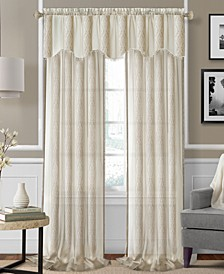 Enza Semi-Sheer Jacquard Stripe Curtain Collection