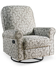 Levina Fabric Nursery Swivel Glider Recliner, Quick Ship