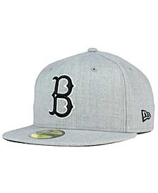 Brooklyn Dodgers Heather Black White 59FIFTY Fitted Cap