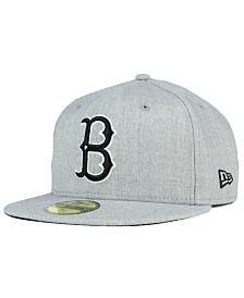 New Era Brooklyn Dodgers Heather Black White 59FIFTY Fitted Cap