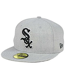 Chicago White Sox Heather Black White 59FIFTY Fitted Cap