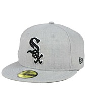 wholesale dealer a1b4b 29081 New Era Chicago White Sox Heather Black White 59FIFTY Fitted Cap
