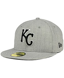 Kansas City Royals Heather Black White 59FIFTY Fitted Cap