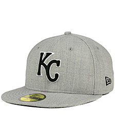 New Era Kansas City Royals Heather Black White 59FIFTY Fitted Cap