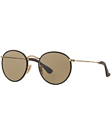 Ray-Ban Sunglasses, RB3475Q ROUND CRAFT