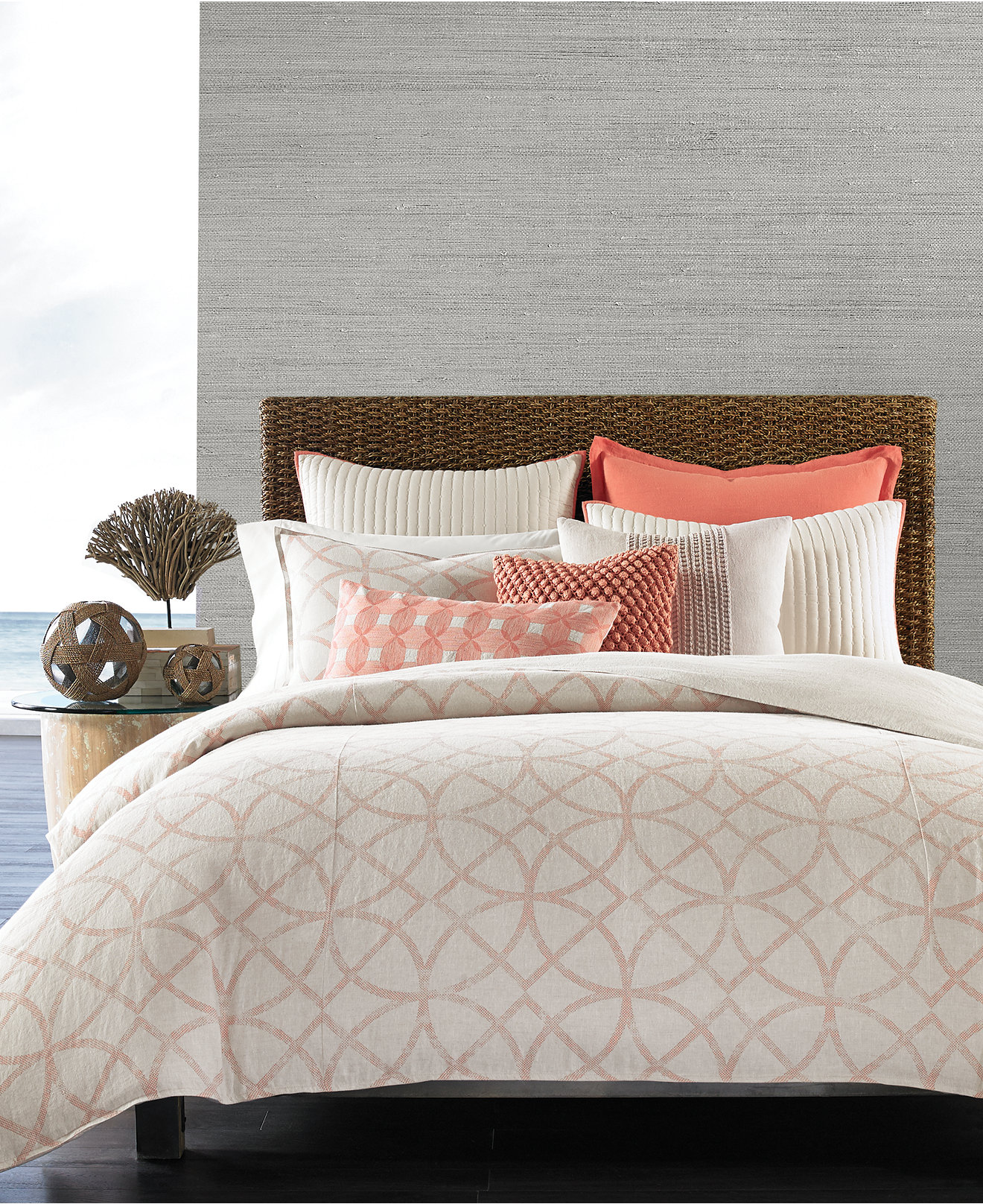 Bedspread designs texture - Hotel Collection Textured Lattice Linen Bedding Collection Only At Macy S Bedding Collections Bed Bath Macy S