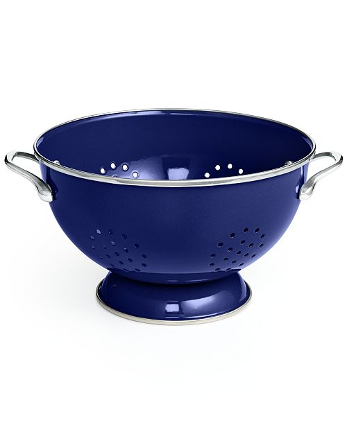 Martha Stewart Collection CLOSEOUT! Enameled on Steel Colander, Created for Macy's