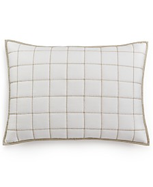 Hotel Collection Waffle Weave Quilted Standard Sham, Created for Macy's