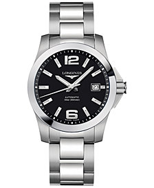 Longines Men's Swiss Automatic Conquest Stainless Steel Bracelet Watch 39mm L36764586