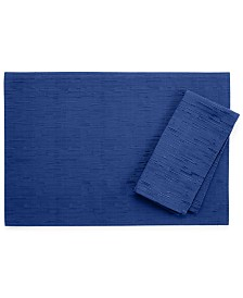 "Bardwil Continental Collection 19"" X 19"" Navy Napkin"