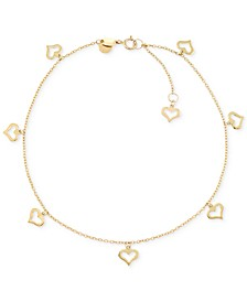 Heart Charm Anklet in 14k Gold