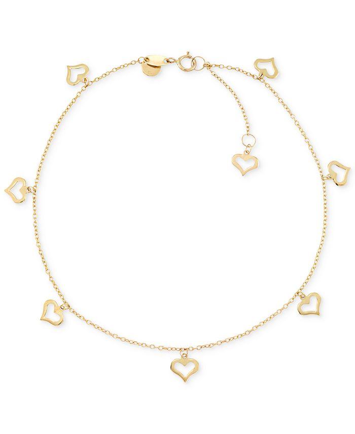 Macy's - Heart Charm Anklet in 14k Gold