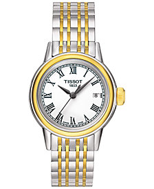Tissot Women's Swiss Carson Two-Tone Stainless Steel Bracelet Watch 29mm T0852102201300