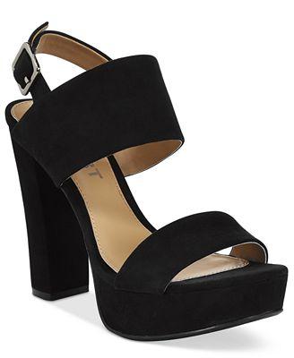 Report Lawren Two-Piece Platform Sandals - Sandals - Shoes - Macy's