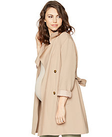Drew Maternity Belted Trench Coat