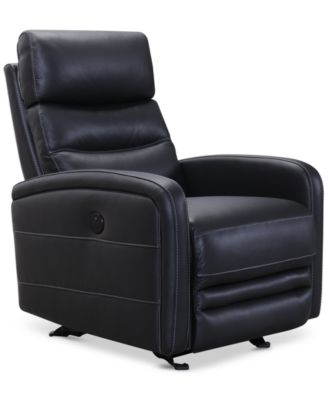 jensen leather power recliner with usb power outlet