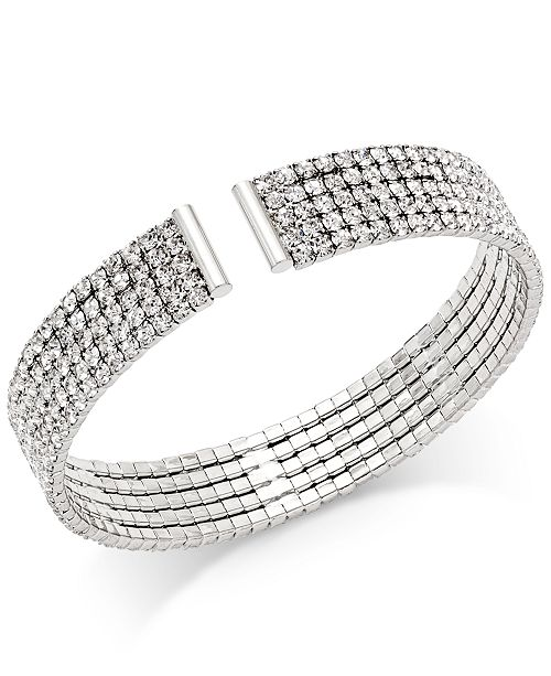 INC International Concepts INC Crystal Flex Bracelet, Created for Macy's