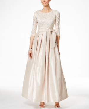 1940s Style Wedding Dresses and Accessories Jessica Howard Lace A-Line Gown $139.00 AT vintagedancer.com