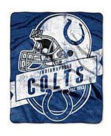 Northwest Company Indianapolis Colts Grand Stand Plush Throw Blanket