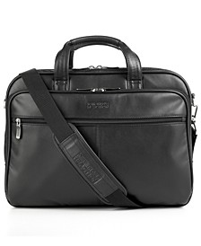 Manhattan Leather Double Gusset Laptop Briefcase