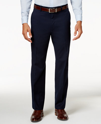 Alfani Men's Traveler Navy Solid Classic-Fit Pants, Created for Macy's