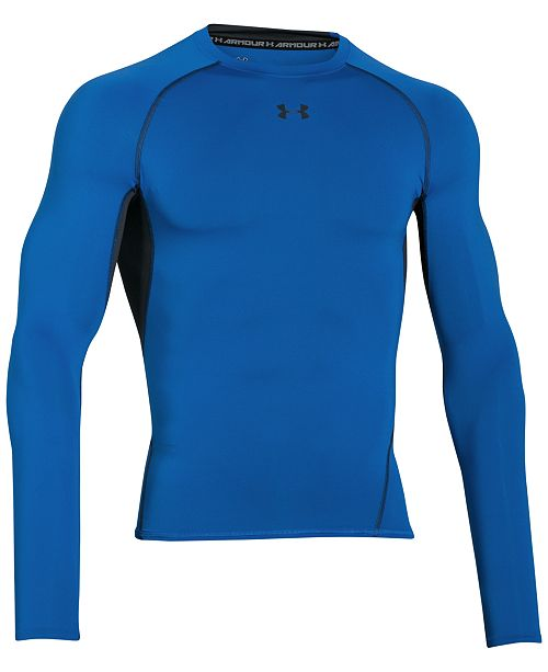 779ef7e8 Under Armour Men's HeatGear® Long-Sleeve Compression Shirt ...