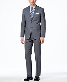 Lauren Ralph Lauren Medium Gray Solid Total Stretch Slim-Fit Suit Separates