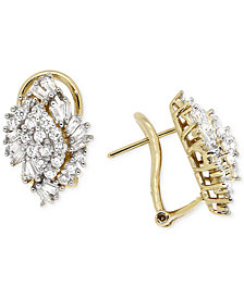 Wrapped in Love™ Diamond Cluster Earrings (1 ct. t.w.) in 14k Gold, Created for Macy's