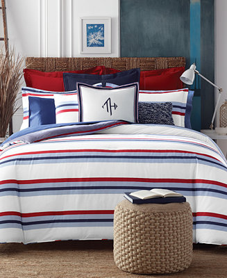 Tommy hilfiger edgartown stripe twin twin xl comforter set bedding collections bed bath for Tommy hilfiger bedroom furniture