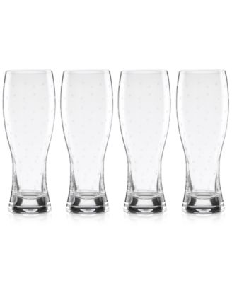Larabee Dot Collection 4-Pc. Wheat Beer Glasses