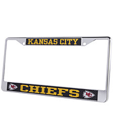Stockdale Kansas City Chiefs Carbon Laser License Plate Frame
