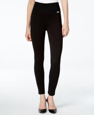 0a543508611333 Calvin Klein Pull-On Wide-Waistband Knit Pants & Reviews - Pants & Capris -  Women - Macy's