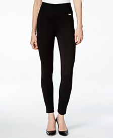 Pull-On Wide-Waistband Knit Pants