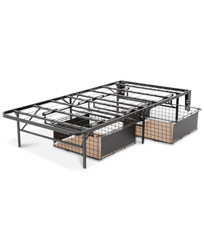Leggett and platt twin xl atlas metal bed base with for Twin bed base with storage