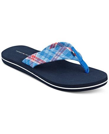 tommy hilfiger women 39 s printed flip flop sandals sandals. Black Bedroom Furniture Sets. Home Design Ideas