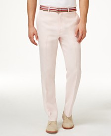 Lauren Ralph Lauren Solid Linen Dress Pants