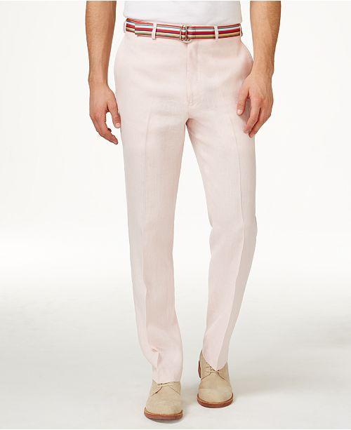 cc9cbc2d2 Lauren Ralph Lauren Solid Linen Dress Pants   Reviews - Pants - Men ...