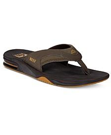 Men's Fanning Thong Sandals with Bottle Opener