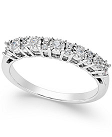 TruMiracle® Diamond Anniversary Band (1/4 ct. t.w.) in 14k White Gold