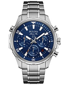 Bulova Men's Chronograph Marine Star Stainless Steel Bracelet Watch 43mm 96B256