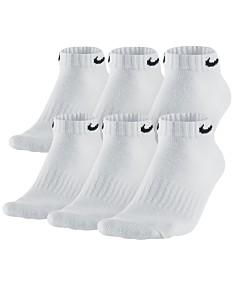 8725bf820d5bd Nike Socks - White Nike Socks & Black Nike Socks - Macy's