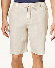 "Men's Linen Drawstring 10"" Shorts, Created for Macy's"
