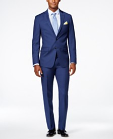 Calvin Klein X-Fit Solid Slim Fit Suit Separates
