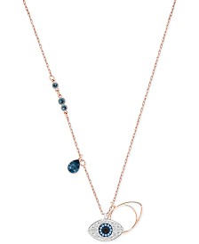 "Swarovski Rose Gold-Tone Crystal Evil-Eye 14-7/8"" Pendant Necklace"