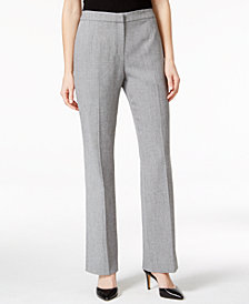 Kasper Straight-Leg Pants, Regular & Petite