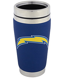 Hunter Manufacturing Los Angeles Chargers 16 oz. Stainless Steel Travel Tumbler