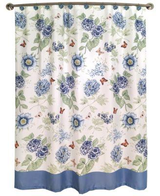 Lenox Blue Floral Garden Bath Collection - Bathroom Accessories ...