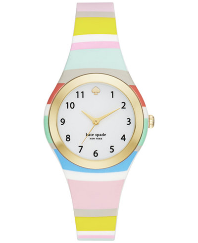 kate spade new york Women's Rumsey Multicolor Silicone Strap Watch 30mm KSW1076
