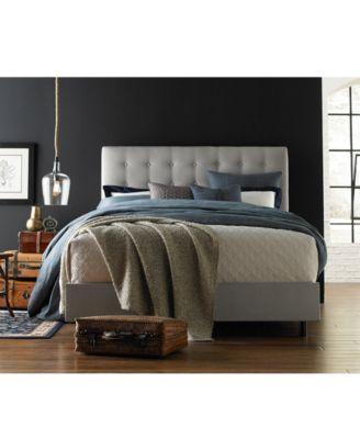 BLUSH U0026 BRASS Hawthorne Queen Button Bed, Quick Ship   Furniture   Macyu0027s