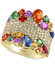 Watercolors by EFFY Multi-Gemstone (4-1/2 ct. t.w.) and Diamond (1-1/12 ct. t.w.) Statement Ring in 14k Gold, Created for Macy's